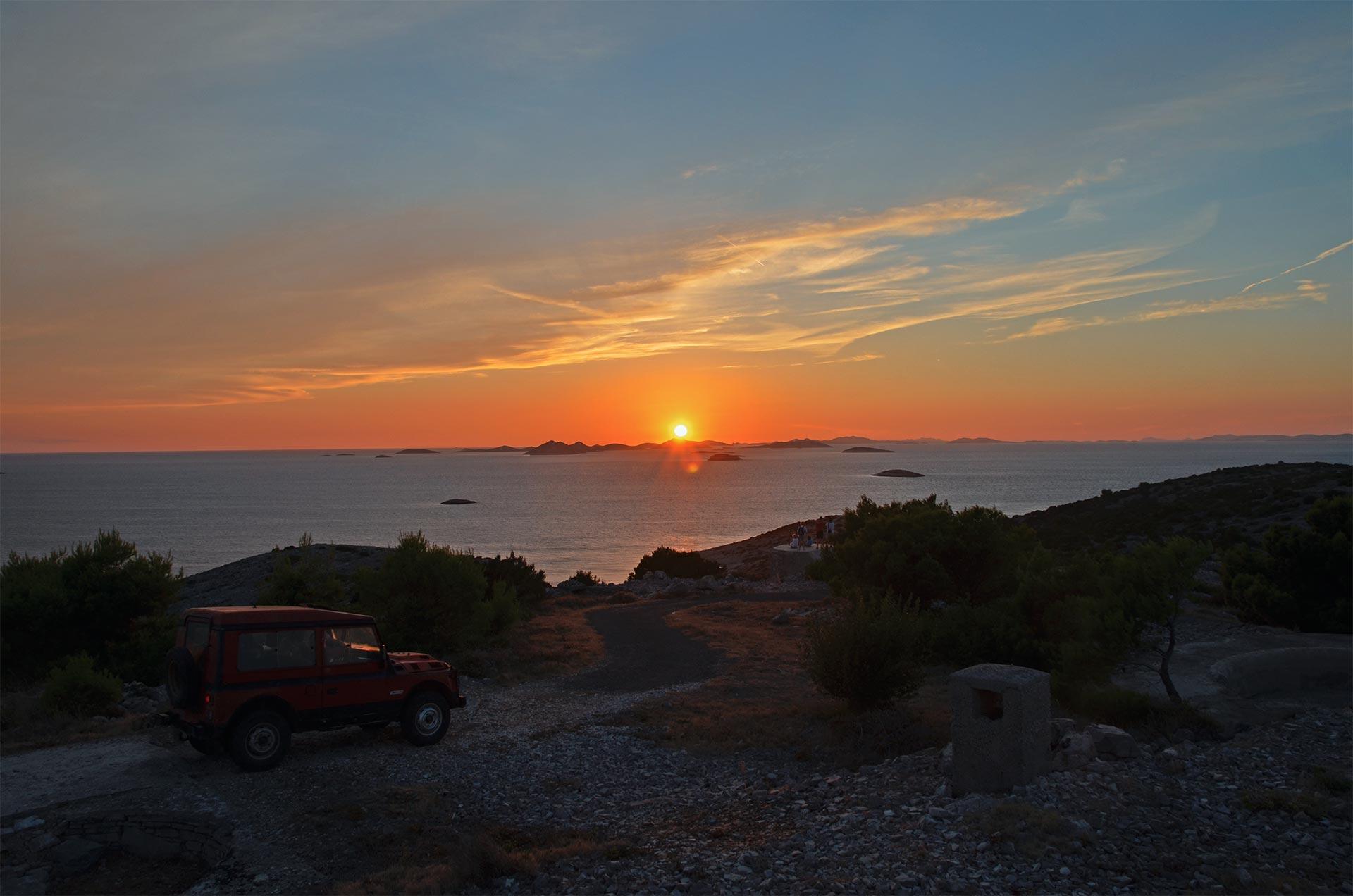 Über uns • Sonnenuntergang am Meer • Reise dich frei