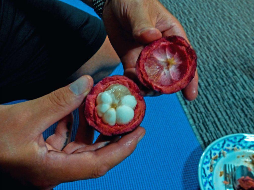 Mangostan fruchtfleisch